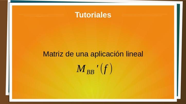matrizaplicacionlineal
